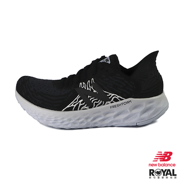 New balance Fresh Foam 黑色 網布 D楦 運動慢跑鞋 女款 NO.J0170【新竹皇家 W1080K10】