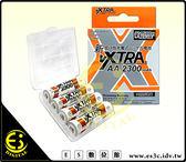 ES數位 飛創 VXTRA 低自放電 AA 四顆 高容量 2300 mAh 三號 充電電池 防潮盒 台灣製造