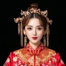中式新娘秀禾頭飾簡約大氣