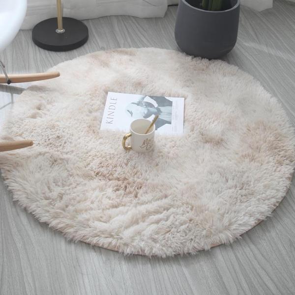 北歐ins圓形地毯臥室少女免洗客廳床邊毛毯吊籃電腦椅地墊瑜伽墊 3C優購