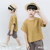 夏季男童裝夏裝套裝新款兒童洋氣兩件套男寶寶夏款帥氣潮  yu3994『夢幻家居』