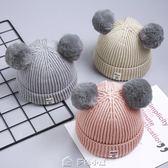交換禮物寶寶毛線帽子針織秋冬季兒童加絨女童0嬰兒1男童2嬰幼兒正韓潮3歲 多色小屋