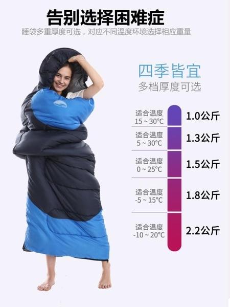 睡袋睡袋成人戶外露營加厚單雙人旅行隔臟室內女保暖棉大人便攜式睡袋 LX 貝芙莉