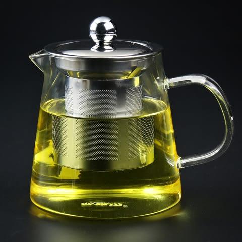 品德坊 耐熱玻璃茶壺花茶壺加厚不銹鋼過濾玻璃茶具泡茶壺 防爆裂igo  韓風物語