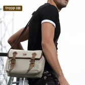 【TROOP】傳統簡約HERITAGE單肩包/TRP0412WS(水洗白色)
