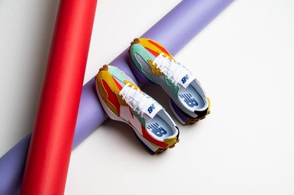 IMPACT New Balance 327 日系 復古 慢跑鞋 糖果 彩虹 國外限定 WS327NRG