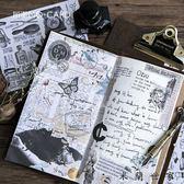 陌墨復古手札明信片信封信紙和紙貼紙