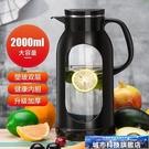 茶壺 冷水壺玻璃耐熱高溫防爆水瓶家用大容量涼白開水杯茶壺防摔涼水壺 城市科技