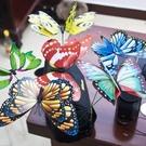 3D立體地貼 仿真蝴蝶3d立體墻貼大小室草坪裝飾假道具彩色自粘冰箱吸鐵石TW【快速出貨八折鉅惠】