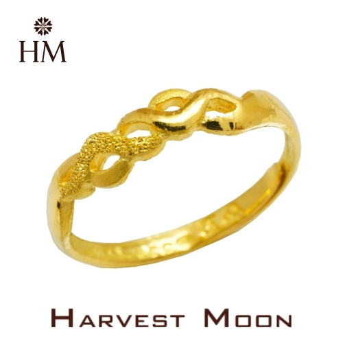 Harvest Moon 富家精品 黃金尾戒 愛情纏綿 9999 純金金飾 女尾戒子 黃金戒指 可調式戒圍 GR04079