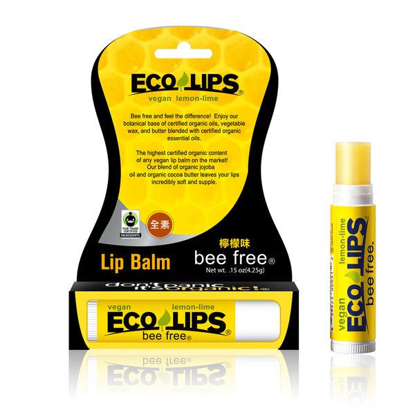 美國ECO LIPS 依蔻麗唇 天然護唇膏-檸檬味(無色 全素)