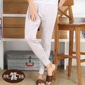 【岱妮蠶絲】1M09902純蠶絲衛生長褲(銀灰)