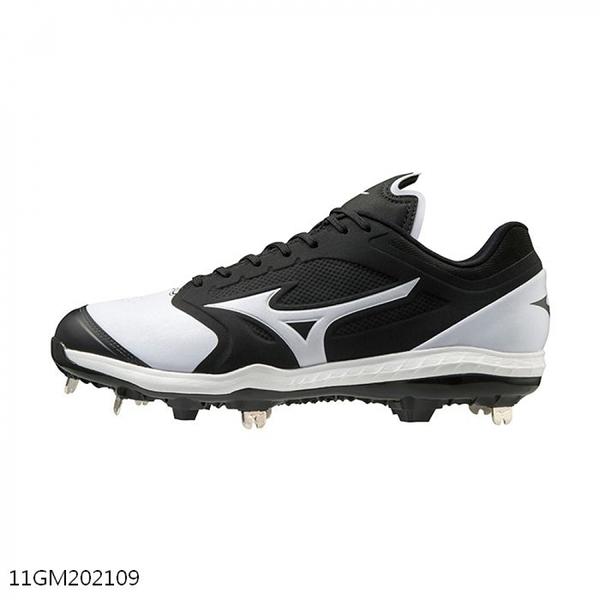 Mizuno Dominant [11GM202109] 男鞋 運動 棒球 壘球 釘鞋 抓地 緩震 回彈 美津濃 白 黑