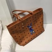 通勤大包包新款托特包大容量軟皮簡約手提側背包女包購物袋潮 韓國時尚週