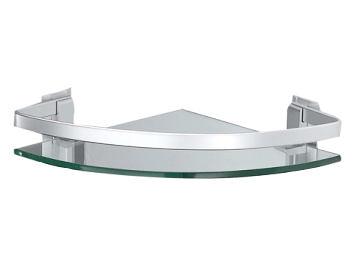 【麗室衛浴】G-032 鋁合金  扇型  單層置物架 26.5X26.5cm