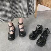瑪麗珍鞋瑪麗珍小皮鞋女英倫風lolita2020夏百搭厚底復古日系黑色jk制服鞋 JUST M