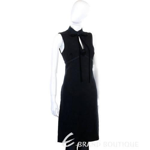 MOSCHINO 黑色領結無袖洋裝 0510755-01