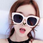 韓國原宿方框復古素顏眼鏡大框凹造型太陽鏡墨鏡網紅