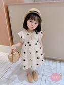兒童洋裝 女童公主裙夏裝新品小童圓點夏季裙子夏天寶寶洋氣兒童連身裙【快速出貨】
