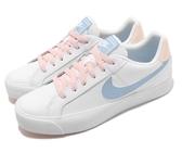 NIKE系列-COURT ROYALE AC 女款休閒鞋 白粉藍-NO.AO2810108
