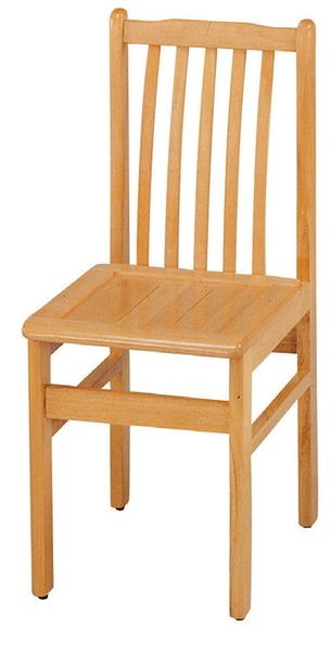 HY-763-3  實木排骨椅(有加強鐵片/單台)