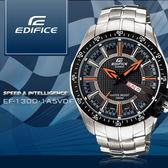 EDIFICE 亮彩指針款 EF-130D-1A5VDF 三眼/EF-130D-1A5/生日禮物 現貨 熱賣中!