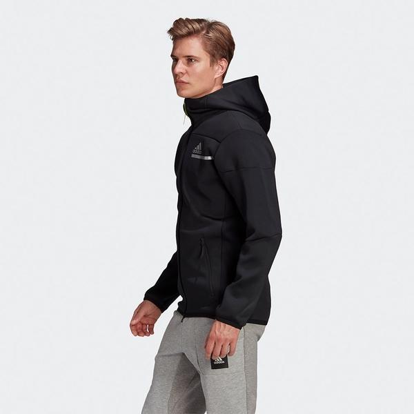 ADIDAS Z.N.E. 男裝 外套 連帽 休閒 拉鍊口袋 反光標誌 彈性 黑【運動世界】GP7838