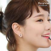 淑女簡約鋯石簍空造型耳環 【櫻桃飾品】【20374】