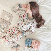 春秋季和服睡衣夏長袖公主風家居服套裝