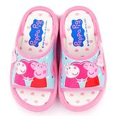 童鞋城堡-粉紅豬小妹 佩佩豬 中童 蝴蝶結戶外拖鞋PG0067-粉