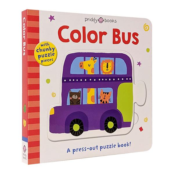 【幼兒啟蒙拼圖書】PUZZLE AND PLAY COLOR BUS 《顏色認知.遊戲童書》