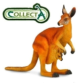 【永曄】collectA 柯雷塔A-英國高擬真動物模型-野生動物系列-袋鼠(母子)