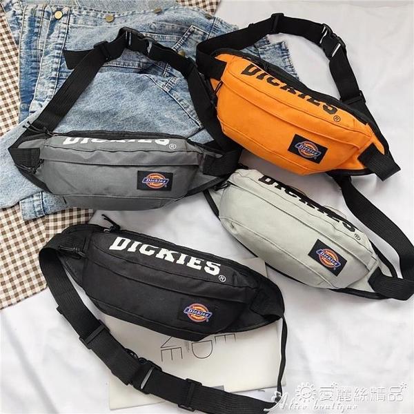 腰包 Dickies潮牌斜背包男士腰包大學生潮流休閒女士胸包側背包包C012 愛麗絲