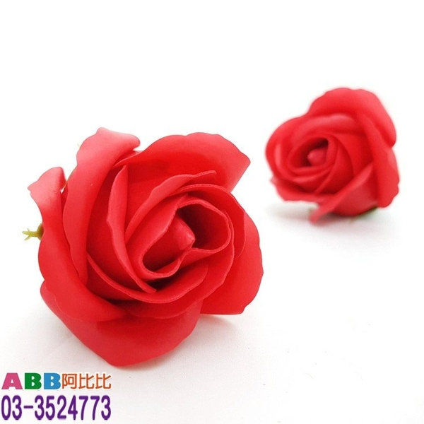 A1307-1_玫瑰花頭_5.5cm_紅#母親節康乃馨康乃馨花花束玫瑰花香皂花婚禮小物
