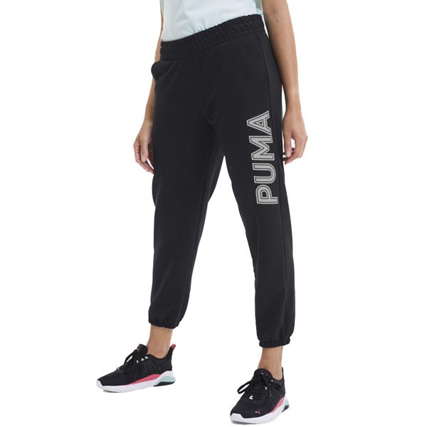【現貨】PUMA Modern 女裝 長褲 九分褲 休閒 LOGO 黑 亞規【運動世界】58293201