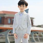 禮服 兒童禮服男童燕尾服套裝韓版白色童鋼琴演出服igo 晶彩生活