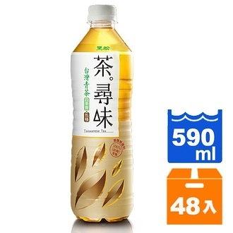 黑松茶尋味台灣青茶590ml(24入)x2箱【康鄰超市】