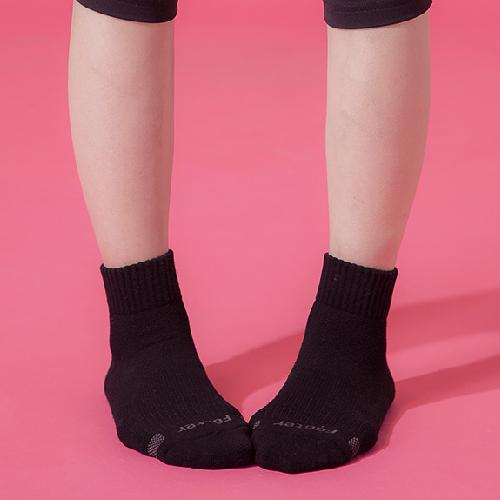 Footer 素面運動逆氣流氣墊襪(黑22~25CM)T91【合康連鎖藥局】