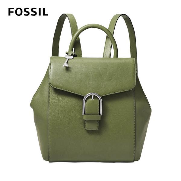 FOSSIL LIV典雅真皮後背包-抹茶綠 ZB1353355