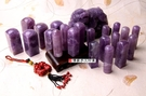 頂級天然紫水晶開運印章《全手工噴砂》六分...