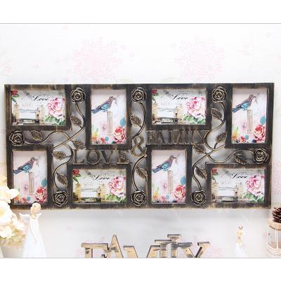 相框 歐式掛墻連體組合love創意藝術照片墻婚紗影樓洗照片框 - 古梵希