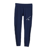 KAPPA義大利 舒適時尚女慢跑KOOL DRY緊身褲(合身尺寸)1件 丈青