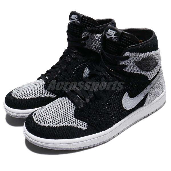 【六折特賣】 Nike Air Jordan 1 Retro HI Flyknit BG Shadow 灰 黑 影子 大童鞋 女鞋【PUMP306】 919702-003