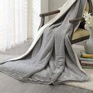 法蘭絨 羊羔絨 雙層超柔暖感萬用毯 毛毯/瑪卡龍系列-氣質灰[鴻宇]