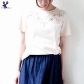 【春夏新品】American Bluedeer - 鹿兔刺繡上衣 二色 春夏新款