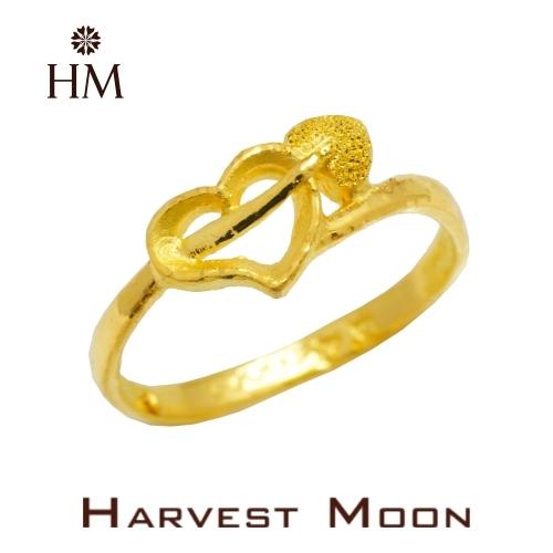Harvest Moon 富家精品 黃金尾戒 愛神之箭 9999 純金金飾 女尾戒子 黃金戒指 可調式戒圍 GR03824