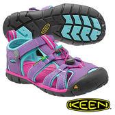 Keen Seacamp II CNX 兒童護趾水陸兩用鞋 紫/粉藍 1014477