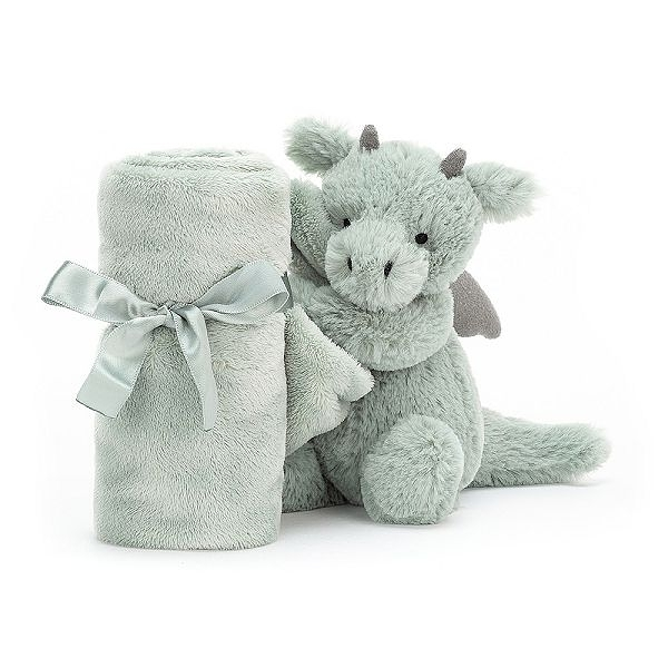 英國 JELLYCAT 小飛龍安撫巾 34cm Bashful Dragon Soother