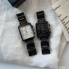 網紅潮人時尚方形中性學生男女復古簡約手錶 3C優購