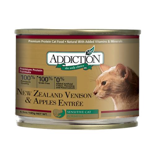 【寵物王國】ADD自然癮食-鹿肉蘋果貓罐185g